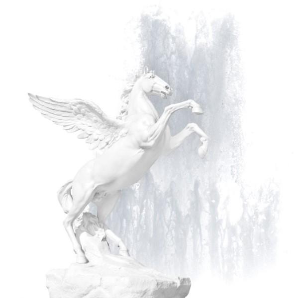 Mythical winged horse Pegasus